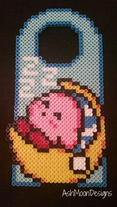 Sleeping Kirby Perler Bead Door Hanger by AshMoonDesigns on Etsy, $10.00