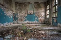 abandoned medical schools | Schools-out-nature-reclaiming-an-old-school-gym-beautiful-decay-