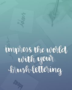Over 60 Ways to Impress the World with Your Brush Lettering Skills | Random Olive