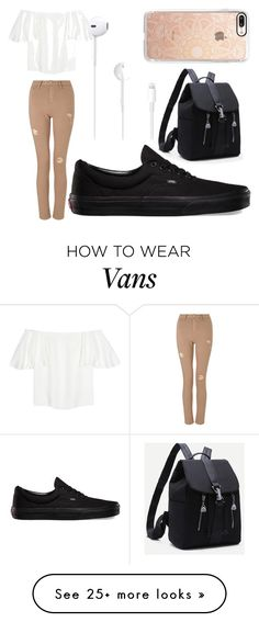 """ARPANA'S STYLE"" by tomboy-1-lol on Polyvore featuring Valentino, Miss Selfridge, Vans and Casetify"