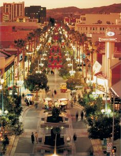 "3rd Street Promenade in Santa Monica. Even though it's crowded most of the time, it's still my favorite ""mall"""
