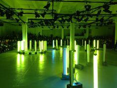 Green neon lighting at #Rodarte #nyfw - @Vogue Paris