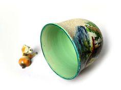 Vaso ceramica ima albisola antonio vaccari industria maioliche