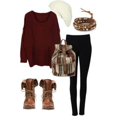 A fashion look from November 2012 featuring Steve Madden ankle booties, Chan Luu bracelets and Wet Seal hats. Browse and shop related looks.