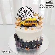 Birthday Cake For Husband, Birthday Cakes For Men, Car Cakes For Men, Cake Decorating Designs, Cake Decorating Techniques, Cake Designs, Cars Cake Design, Cake Design For Men, Car Cake Toppers