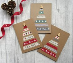 Set of 5 or 10 Christmas Cards Card Multipack Holiday Cards Xmas Cards Festive Cards Card Bundle Christmas Card Pack Cute Christmas Christmas Card Packs, Christmas Card Crafts, Homemade Christmas Cards, Christmas Tree Cards, Homemade Cards, Handmade Christmas, Holiday Cards, Christmas Christmas, Homemade Xmas Gifts