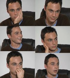 Jim Parsons - favorite has to be top right corner. Love that sexy serious look.