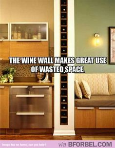 Every House Should Have A Wine Wall… This Needs To Be Part Of Basic Architecture.