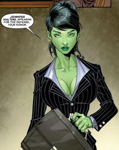 Jennifer Walters----She Hulk. I love that She Hulk is a lawyer. Hulk Marvel, Marvel Dc Comics, Comics Anime, 5 Anime, Marvel Art, Marvel Heroes, Avengers, Marvel Women, Marvel Girls