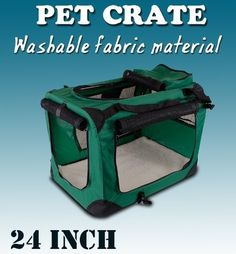 New Medium Dog Pet Puppy Portable Foldable Soft Crate Playpen Kennel House-Green -- Learn more by visiting the image link. (This is an affiliate link) #DogCare