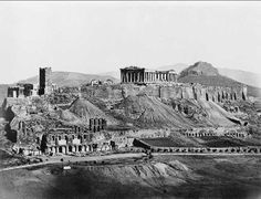 The Acropolis in The Parthenon was built under Pericles in century Athens Athens Acropolis, Parthenon, Athens Greece, Ancient Greek Architecture, Historical Architecture, Old Pictures, Old Photos, Empire State Building, Woodstock