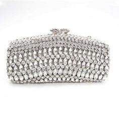 clear shining crystal clutch