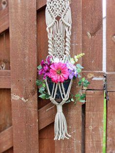 Small Macrame planter hanging macrame macrame plant hanger
