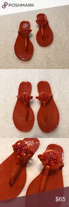 d640cbfc9444d Tory Burch Orange Mini Miller Jelly Sandals Tory Burch Orange Mini Miller  Jelly Thong They have