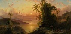 El+paisaje+en+óleo+del+pintor+alemán+Ferdinand+Bellermann+Costa+de+la+Guaira+a+la+caída+del+sol,+realizado+en+Venezuela,.jpeg (620×300)