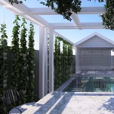 """Concrete Swimming Pool Experts on Instagram: """"The team at @timdavieslandscaping always have the most fantastic ideas when it comes to landscape design. Take this vine wall for example.…"""" Backyard Shade, Vine Wall, Landscape Design, Swimming Pools, Vines, Concrete, Things To Come, Shades, Outdoor Decor"""