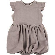 88dbdef5a Kate Quinn Organics Pleated Arm Ruffle Pocket Dress - Infant Girls' Slate,  12-18M: Clothing