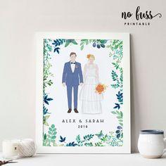 Custom Wedding Portrait Family Portrait by NoFussPrintable Wedding Card Design, Wedding Designs, Wedding Cards, Wedding Invitations, Diy Wedding, Wedding Couples, Invites, Wedding Ideas, Wedding Drawing