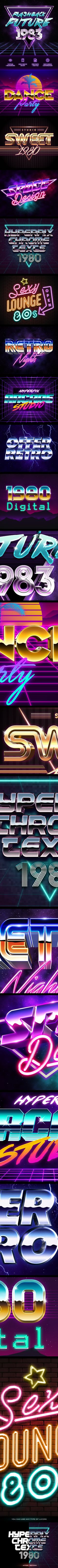 #80's Style Text Generator - #Text #Effects #Actions #PSAction #Photoshop #PS #Graphicriver #Design #TextEffects #old