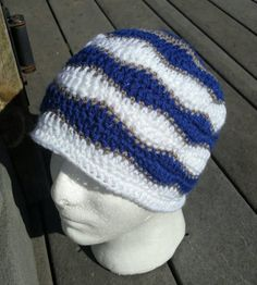 This listing is for a Dallas Cowboys inspired beanie. This pattern is called brainwaves and can be done in any mix of the colors you like. This hat is custom made just for you. ****I make this in any size from toddler to adult. Just specify in the note to seller if u want a size