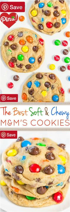 DIY The Best Soft and Chewy M&MS Cookies - Ingredients  Vegetarian  Refrigerated  1 Egg large  Baking & Spices  1  cups All-purpose flour   tsp Baking soda   cup Brown sugar light packed   cup Granulated sugar   tsp Salt   cup Semi-sweet chocolate chips  2 tsp Vanilla extract   cup Vanilla pudding mix instant  Dairy   cup Butter unsalted  Desserts   cup M&ms #delicious #diy #Easy #food #love #recipe #recipes #tutorial #yummy @mabarto - Make sure to follow cause we post alot of food recipes…