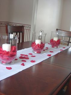 Forever and Ever House: Valentine's Day Decorating -- could work with smaller jars & tea lights