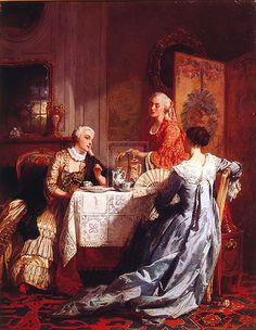 Jean Carolus (1814-1897) — The Tea Party (596×768)