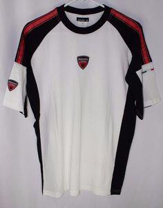 8aaaba5ea85 Mens Ducati Course T Shirt White Red Black Logo Size XL  Ducati   EmbellishedTee Ducati