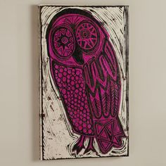 wall art....purple owl