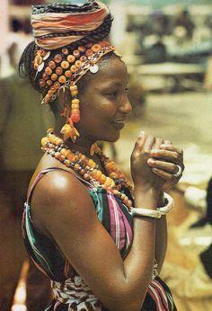 """Africa   A face from Senegal.   A scanned image from the publication """"Un visage du Senegal"""", texte de Bara Diouf, Editions Delroisse, Paris, 1973."""