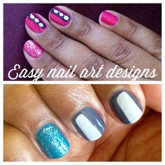 Easy Nail Art Designs: Stripes and Dots (+ Giveaway!)