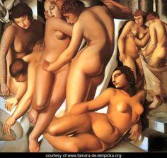 Women Bathing, 1929 - Tamara de Lempicka - www.tamara-de-lempicka.org