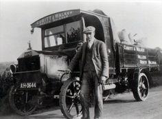 Cubitt & Walker's Napier Lorry, bodywork built by Frank Mann, Vicarage Street. Driver is John Martin Sandall North Walsham Photograph. #NorthWalsham #NorthNorfolk #History