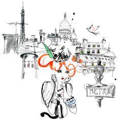 Mademoiselle Oiseau childrens book by Lovisa Burfitt and Andrea de La Barre de Nanteuil – Husligheter.se Fashion Illustration Sketches, Illustration Artists, Cool Artwork, Amazing Artwork, Mademoiselle, Paris, Artist Painting, Pretty Pictures, Art Inspo