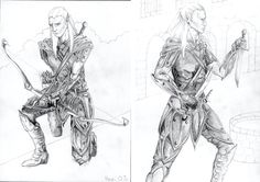 Character design. An elven warrior I did for a friend.