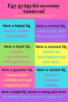 Egy gyógyító asszony tanácsai, #pozitívgondolatok, #éptestbenéplélek, #szeretet, #rózsaszínszemüveg, #lelkibéke, #egészség Word 2, Thoughts And Feelings, Positive Life, Mantra, Periodic Table, Spirituality, Health Fitness, Mindfulness, Wisdom