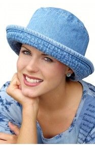 denim bucket hat - hat for cancer patients and women with hair loss Fleece  Hats 940781116dce