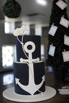 Bold nautical wedding cake