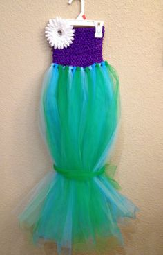 Wonder if they make it in your size @Maria Canavello Mrasek Canavello Mrasek Canavello Mrasek and Mariah..... Little Mermaid tutu dress. $30.00, via Etsy.