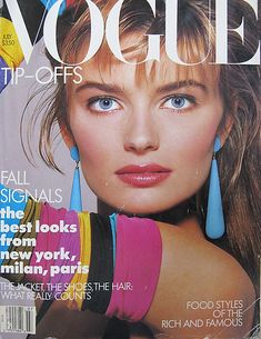 1987 Vogue - Paulina, big earrings