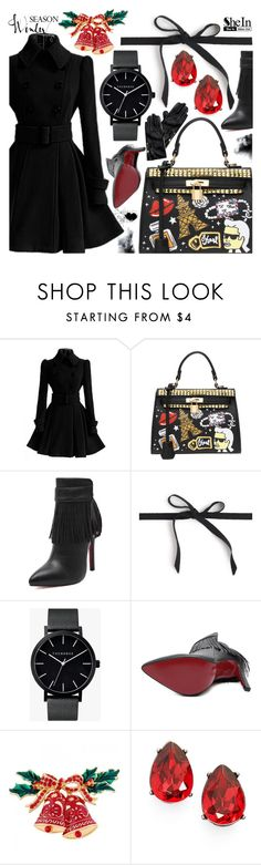 """""""Happy Hollidays with SheIn"""" by pastelneon ❤ liked on Polyvore featuring J.Crew, The Horse, Marchesa and Tommy Hilfiger"""