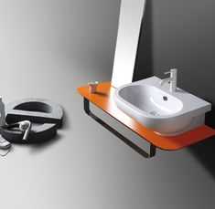 EL 10 | E-line Ceramica Simas Counter top wall hug washbasin 65 pre-punched for single tap hole