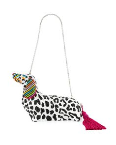 Judith Leiber Couture Libertine Loves Leiber Crystal Dachshund Box Clutch Bag