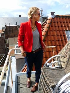 135 work that red blazer! now that