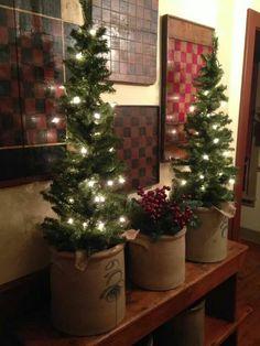 By Gail Napier Reeder Primitive Christmas Tree, Cabin Christmas, Victorian Christmas, Rustic Christmas, Winter Christmas, Christmas Crafts, Christmas Trees, Primitive Snowmen, Primitive Crafts