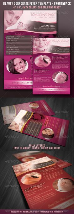 Beauty Corporate Flyer - Front & Back - GraphicRiver Item for Sale
