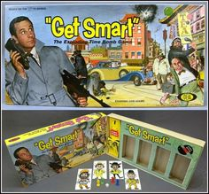 1960's Vintage GET SMART Exploding Time Bomb Board Game Box & Parts, Ideal 1965
