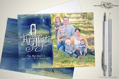 A personal favorite from my Etsy shop https://www.etsy.com/listing/254057915/o-holy-night-christmas-photo-cards