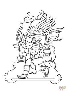 Dios Azteca Tlaloc | Super Coloring