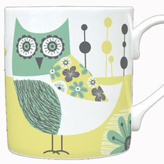 owl mug ♥ print & pattern